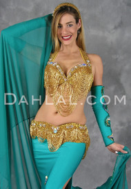 Egyptian bra and belt set in gold