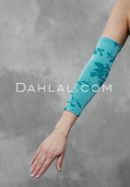 turquoise glitter sleeves for belly dance