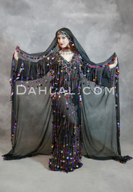black Egyptian saidi dress