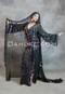black Egyptian paillette dress