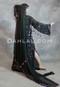 black Egyptian fringe dress