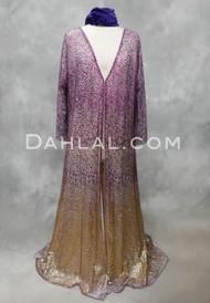 purple and gold abaya