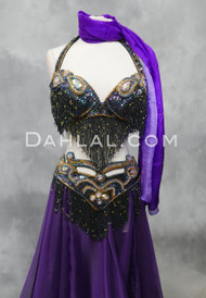 Black Iris Egyptian Bra and Belt Set