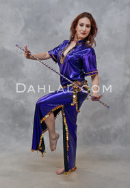 Egyptian Saidi Belly Dance Dress in Purple