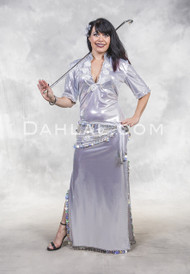 Egyptian Saidi Dress and Wrap in Aurora and Silver