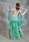 green bellydance dress