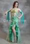 green Egyptian belly dance dress