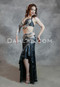 Serpentine Black and Silver Egyptian Belly Dance Costume