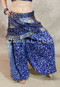 Royal Blue Double Pleated Pocket Hip Wrap with Harem Pants
