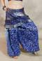 Royal Blue Double Pleated Pocket Hip Wrap with Harem Pants