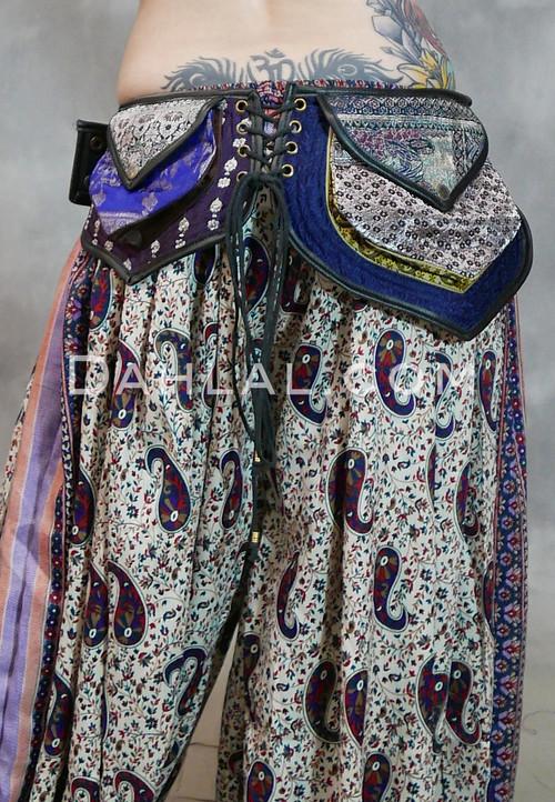 Triple Pocket Sari Belt with Lacing