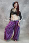 Full Length Front View of Magenta Cotton Printed Maharani Bloomers