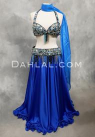 Treasured Jewels blue bra and belt set