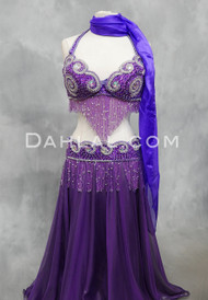 Sphinx Splendor bra and belt set in purple