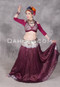 Full Length Front View Shown with Silk Brocade Tie Back Halter Top and a Choli with Turkoman Buttons
