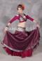 Wine and Silver Silk Brocade Skirt