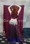 Wine and Purple Silk Skirt
