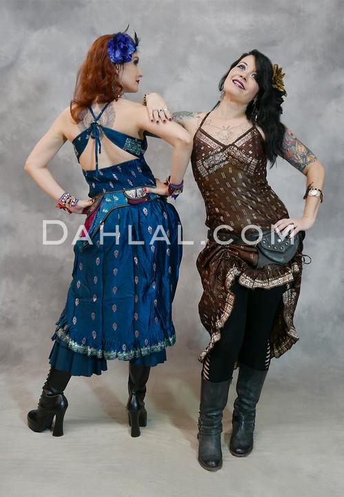 Silk Brocade Choli Dress