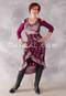wine and silver brocade choli dress