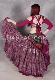 Wine Faux Assuit 25 Yard Tribal Skirt