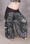 Black and Silver Faux Assuit Harem Pants