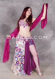 Model in Endless Love belly dance costume from Dahlal Internationale