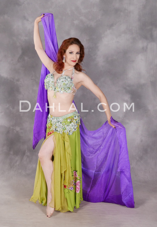 Look unique in our Spring Meadow belly dance costume