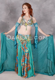 Full shot of a model wearing our Lavish Luxury belly dance costume