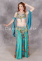 Front view of belly dance sporting our Lavish Luxury costume