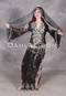 Black and Silver Egyptian Assuit Saidi Dress