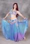 Blue and Lavender Gradient Beaded Egyptian Full Costume