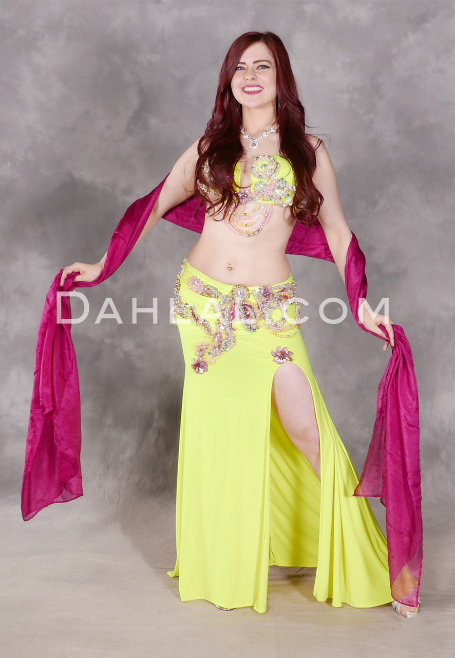 f4dfd57135574 NEON LIGHTS Full Costume - Chartreuse, Silver, PInk and Aqua, Bra ...