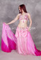 pink Egyptian belly dance costume