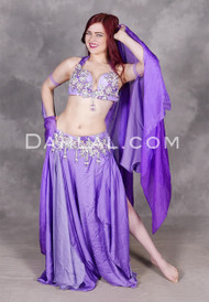 Purple belly dance costume