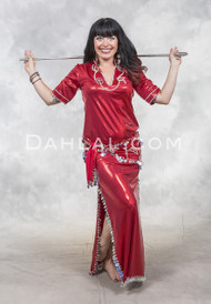 Red and Silver Fifi Abdo Style Dress