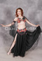 black and red bellydance costume