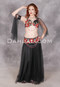 black and red Egyptian bellydance costume