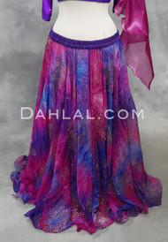 Fuschia and purple chiffon skirt