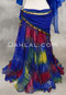 blue and yellow bellydance skirt