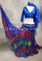 Front View Shown with Royal Blue Akhet Top and Single Coin Triangle Scarf