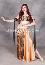 Desert Sunset gold and black costume
