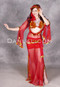 Cairo Nights Egyptian Beledi Dress in Red and Gold