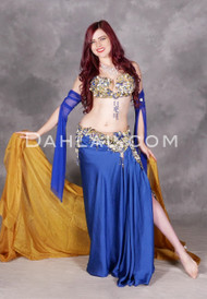 Royal Blue bellydance costume