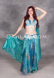 Sea Goddess Egyptian bellydance costume