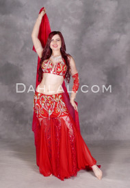 Ruby Reverie Egyptian bellydance costume