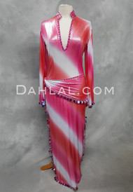 Desert Darling pink and white saidi dress