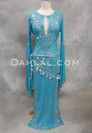 turquoise assuit dress