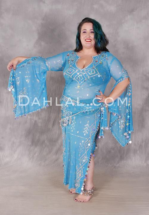 Turquoise Assuit Beledi Dress