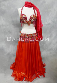 red bra and belt set