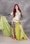 olive Egyptian belly dance costume